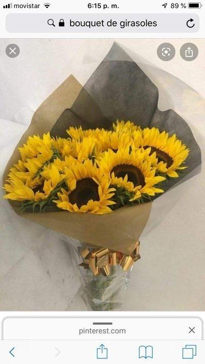 Bouquet de girasoles presentación de regalo
