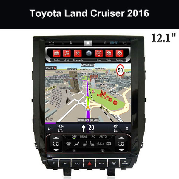Central Multimedia Kit Kat 12.1 Inch Screen Toyota Land Crui