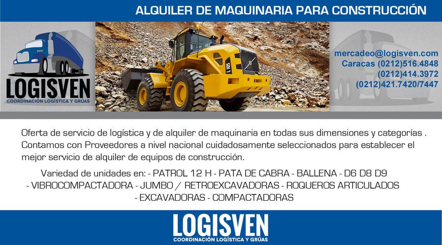 Logisven- Servicio y Alquiler de Maquinaria Extra dimensionada