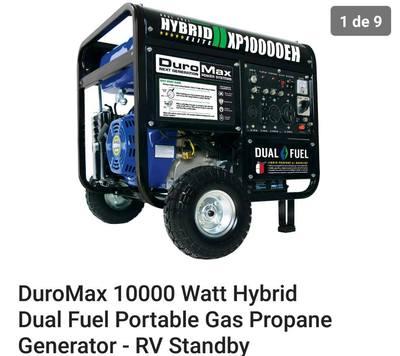 Generador electrico DuroMax de 10000 dual fuel